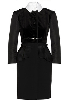 Jason Wu Velvet and wool-crepe peplum dress