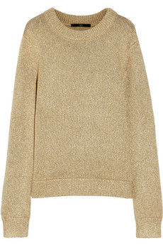 Tibi Metallic knitted sweater