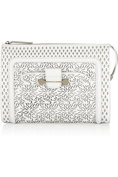 Jason Wu Daphne laser-cut leather clutch