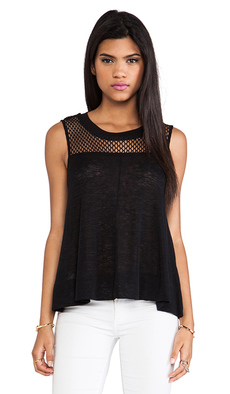 Ella Moss Sage Tank in Black