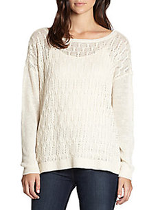 Joie Morie Open Cable-Knit Linen Sweater