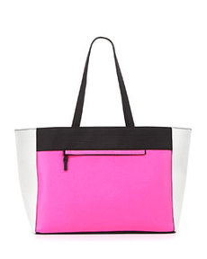 French Connection Perforation Celebration Tote Bag, Pink