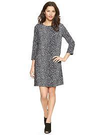 Leopard three-quarter sleeve dress