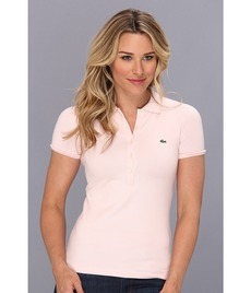 Lacoste S/S 5 Button Stretch Pique Polo