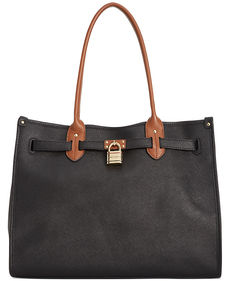 Tommy Hilfiger Saffiano Leather TH Heritage Lock Tote
