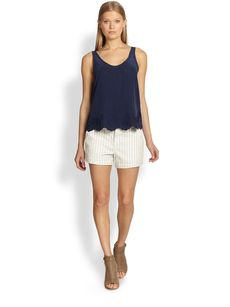Joie Rini Striped Stretch Denim Shorts