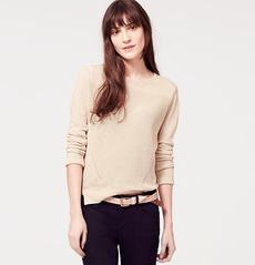 Linen Cotton Split Hem Sweater