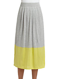 Eileen Fisher Colorblock Long Skirt