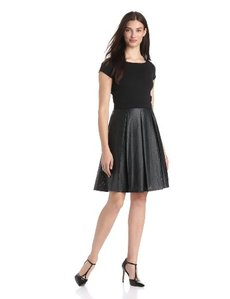 Ellen Tracy Women's Short-Sleeve Pleated-Skirt Dress