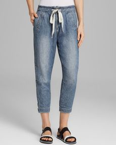 Free People Pants - Easy Chambray Harem