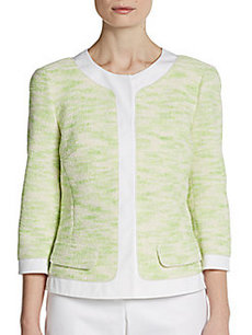 Lafayette 148 New York Marielle Tweed Cropped Jacket