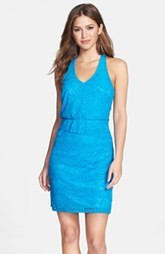 Laundry by Shelli Segal Tiered Lace Blouson Dress