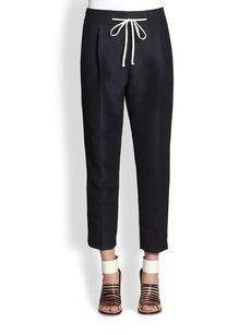 3.1 Phillip Lim Cropped Silk & Cotton Polka Dot Pants