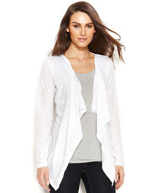 MICHAEL Michael Kors Petite Long-Sleeve Open-Front Cardigan