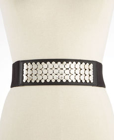 Calvin Klein Polished Nickel Stacked Studs Pant Belt