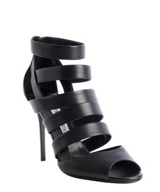Jimmy Choo black caged leather 'Dame' sandals