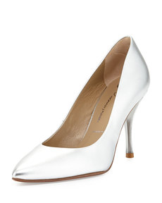 Donald J Pliner Brave Metallic Leather Pump, Silver