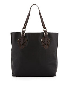Foley + Corinna Equestrian Two-Tone Tote Bag, Black/Brown