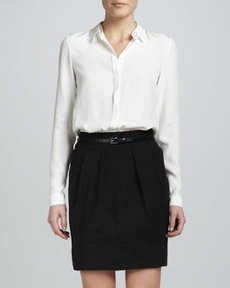 Lafayette 148 New York Alaina Pleated Skirt