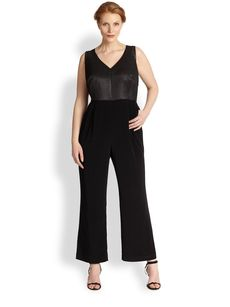 Kay Unger, Sizes 14-24 Sleeveless Jumpsuit