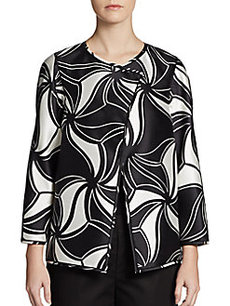 Lafayette 148 New York Venus Printed Wool/Silk Jacket