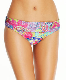 Kenneth Cole Reaction Banded Paisley-Print Bikini Bottom