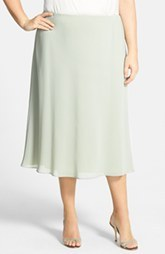 Alex Evenings Tea Length A-Line Georgette Skirt (Plus Size)