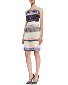Lafayette 148 New York Evelyn Striped Silk Sleeveless Dress