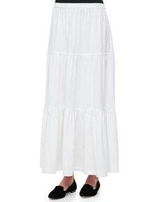 Joan Vass Tiered Long Skirt, Women's