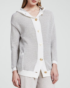 Escada Basket-Knit Cardigan, Natural