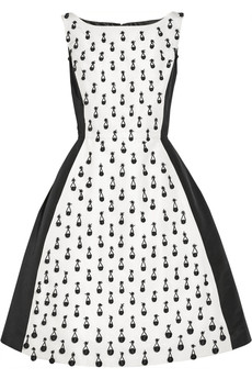 Oscar de la Renta Beaded silk-faille dress