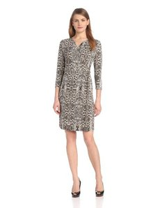 Calvin Klein Women's Printed Wrap Dress