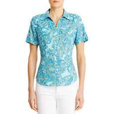 Short Sleeve Cotton Camp Shirt (Plus)