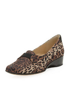 Taryn Rose Kaelynn Wedge Slipper, Leopard