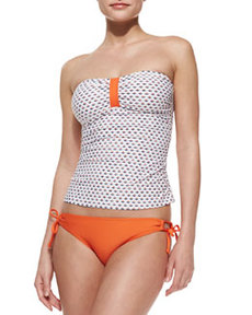 Tie-Side Swim Bottom, Orange   Tie-Side Swim Bottom, Orange