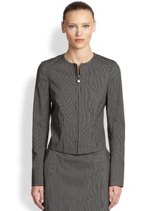 Akris Punto Stretch Cotton Micro Stripe Jacket