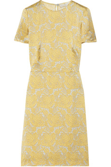 Stella McCartney Terrell lace-print silk-satin dress