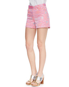 Soiree Whimsical Embroidered Shorts   Soiree Whimsical Embroidered Shorts