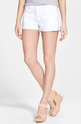 J Brand 'Rita' Side Zip Cutoff Denim Shorts (Pure White)