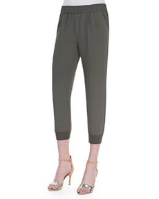 Mariner Cropped Pull-On Pants, Fatigue   Mariner Cropped Pull-On Pants, Fatigue