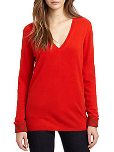 Burberry Brit Cashmere V-Neck Sweater