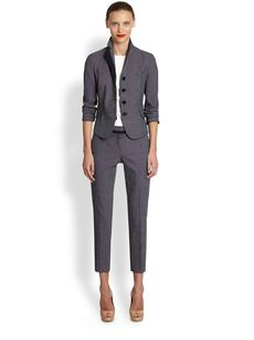 Akris Punto Pindot Four-Button Jacket