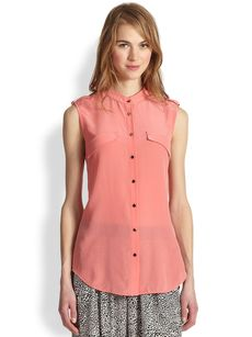Robert Rodriguez Draped Silk Shirt