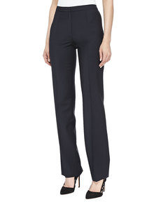 Escada Skinny Wool-Blend Pants, Navy