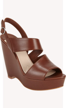 Prada Asymmetric Platform Wedge Sandals