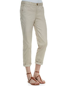 Traveler Cropped Cotton Pants   Traveler Cropped Cotton Pants