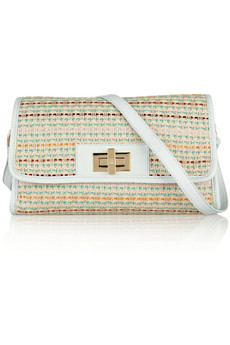 M Missoni Leather-trimmed tweed shoulder bag