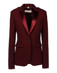 BURBERRY LONDON Satin Crêpe Solid color Lapel collar Buttoned cuffs Three pockets 1 button Rear slit Lined Long sleeves Front closure Flashes Crêpe Woven not made of fur Long sleeves
