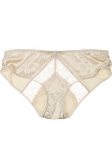 Stella McCartney Josephine Marrying mid-rise satin briefs