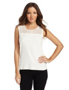 Calvin Klein Women's Sweater W Lace Shoulder